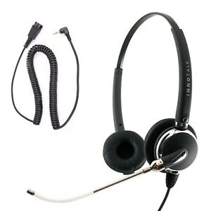 Replaceable Voice Tube Mic Binaural Headset 2.5 mm in Jabra Compatible QD