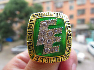 1987 Edmonton Eskimos The Grey Cup TEAM Ring Fan Men Gift