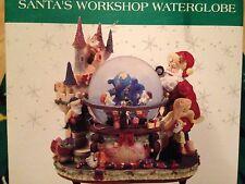 """International Bazaar """"Santa's Workshop Waterglobe Santa Claus is Coming To Town"""""""