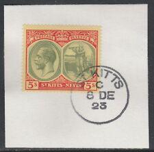Saint Kitts 5469 - 1920 KG5 5 S su pezzo con MADAME Joseph FORGIATO TIMBRO POSTALE