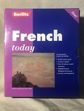 French Today Language Learning Course by BERLITZ on Cassette Factory Sealed