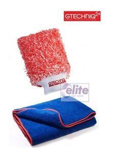 Gtechniq WM2 Microfibre Wash Mitt and Zero Scratch Drying Towel Set - SOFT/SAFE