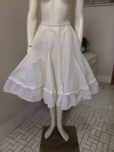 Original Vintage 50s Petticoat, Full Skirt Rope Petticoat,Pinup Rockabilly Retro
