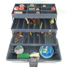 Fenwick Black Hawk Tackle Box 1063 Incl Thomas Buoyant Lures and other Vtg Items