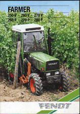 Fendt Farmer 250 V, 260 V, 270 V, 260 P, 270 P and 280 P Tractor Brochure