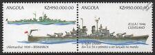 USS Cleveland (CL-55) Light Cruiser & BISMARCK Battleship WWII Warship Stamps