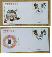 China 2020-1 FDC Lunar New Year Greeting of RAT Zodiac FDC A n B