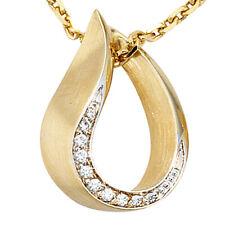 NEU Luxus Diamanten Anhänger Tropfen 585 echt Gold Brillant 14 Karat