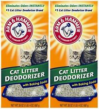 Arm & Hammer Cat Litter Deodorizer With Activated Baking Soda 20 oz Pack of 2
