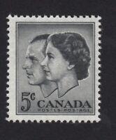 QUEEN ELIZABETH & PRINCE PHILIP = Canada 1957 #374 MNH q08