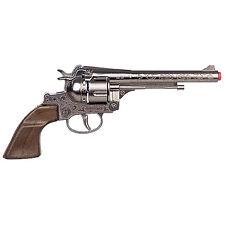 """NEW Old West Cowboy Filigreed Revolver 11"""" Diecast 12 Shot Cap Gun"""