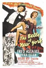 THE BELLE OF NEW YORK Movie POSTER 27x40 Fred Astaire Vera-Ellen Marjorie Main