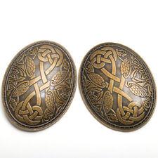 1pr SCA Nordic Tortoise Brooch Vintage Viking Oval Brooch Medieval Turtle Fibula
