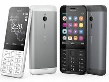 Nuevo Nokia 230 ** ** SIM doble desbloqueado teléfono Móvil-plata oscuro original
