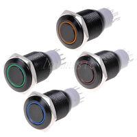 4 pcs Angel Eye Black LED 16mm Hole 12V Metal Latching Switchs