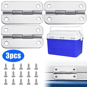 3Pcs igloo cooler replacement hinges + stainless steel screws hinge parts kit