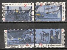 BOSTON TEA PARTY #1480-1483 Used US 1973 Commemorative 8c Stamp Set