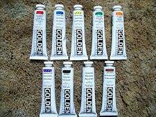Golden Heavy-body Acrylic Paint 9 - 2 ounce Tubes Lot 7