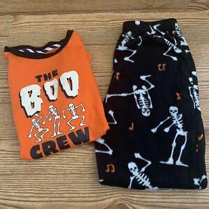 Halloween Pajamas Youth Size Medium Boo Crew Dancing Skeletons Family PJs