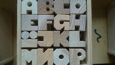 Holz Buchstaben Set mit 65 Stück, Esche 3 cm