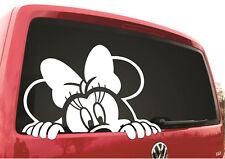 Minnie Mouse Car Decal Sticker Vinyl White 16.5cm x 15.5cm