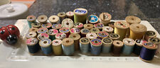 47 Vintage Sewing Thread Wooden Spools Variety Of Sizes And Colors Arts & Crafts