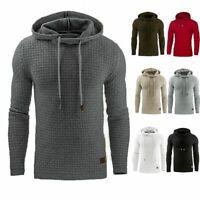 Men's Slim Pullover Hoodie Warm Winter Hooded Sweatshirt Coat Sweater Outwear