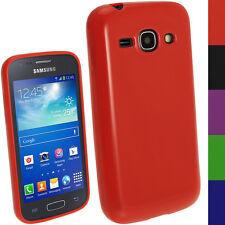 Rot TPU Gel Case Cover Tasche Hülle für Samsung Galaxy Ace 3 S7275 + Schutzfolie