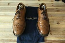 Loake 1880 Badminton Brown Pebble Grain Country Brogue Oxford Shoes UK Size 7.5F