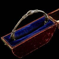 Antique Vintage Art Deco Sterling Silver English Byzantine Bali Bangle Bracelet