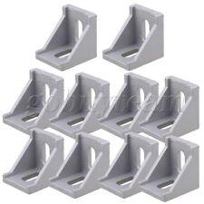 10 x Furniture Fastener 40x40mm Corner Right Angle Bracket Aluminum Oval Hole