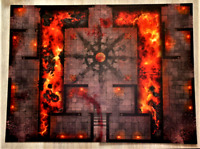 """Warcry Catacombs Dungeon Game Board + TOKENS Two Sides 22""""x30"""" Warhammer Sigmar"""