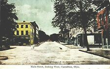 CARROLLTON OHIO MAIN STREET LOOKING WEST USED 1911