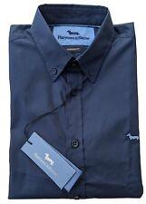 "Harmont & Blaine  2XL  Chest 48""  Navy NARROW FIT Short Sleeve Shirt  RRP £115"