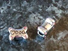 SILVER PLATED DOG BONE BEAD  FOR EUROPEAN CHARM BRACELETS