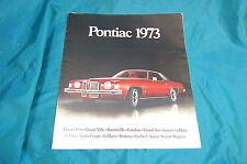 Pontiac 1973 Advertising Brochure Grand Prix Bonneville Grand Am LeMans Firebird