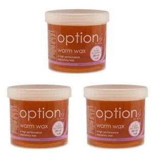 Hive Of Beauty Options classic Warm Wax 425G pots, honey leg wax, Pack Of 3