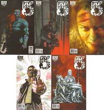 complete set (5) FIVE WAYS TO DIE #1 2 3 4 5 IDW COP COMIC BOOK 1st print lot