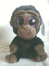 """Beanie Boo - 6"""" Romeo The Gorilla - Solid Eyes - 2012 - Purple Hang Tag"""