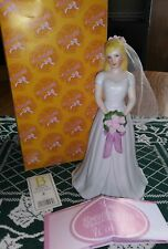 Growing Up Birthday Girls Blonde Bride Nos New Enesco 2012 4031699 Rare Wedding