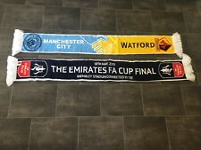 MANCHESTER CITY V WATFORD FA CUP FINAL 2019 FOOTBALL SCARF - BRAND NEW