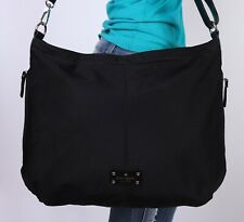 KATE SPADE X-Lrg Black Nylon Shoulder Hobo Tote Satchel Hobo Carryall Purse Bag