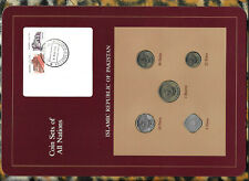 Coin Sets of All Nations Pakistan w/card 1985 - 1986 UNC 5 Paisa 1985