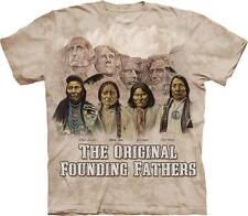 THE ORIGINAL FOUNDING FATHERS ADULT T-SHIRT THE MOUNTAIN NATIVE AMERICAN