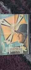 More details for genuine ww2 nazi party our luftwaffe poster 1939 (or earlier) 22.5