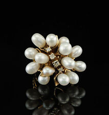 Pearl Rose Gold Ring Vintage Fine Jewellery