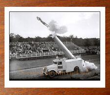 1930's Circus Photo, HUMAN CANNONBALL, Acrobat Dare Devil, Hugo Zacchini