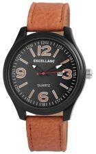Schwarze Excellanc Armbanduhren mit Kunstleder-Armband