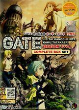 Dvd Anime Gate Jieitai Kanochi nite Kaku Tatakaeri Complete Season 1+2 Eng Sub