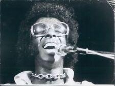 1970 Press Photo R&B Funk Legend Sylvester Stewart Sly Stone